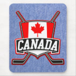 Canadian Hockey Logo Mousepads