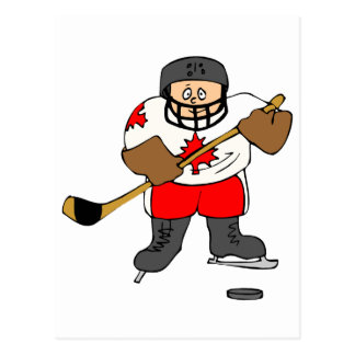 Canadian Hockey Player Postcard