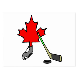 Canadian Hockey Postcard