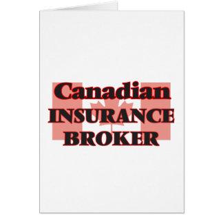 Canadian Insurance Broker Greeting Card