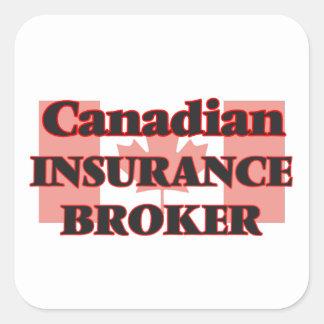 Canadian Insurance Broker Square Sticker