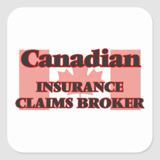 Canadian Insurance Claims Broker Square Sticker