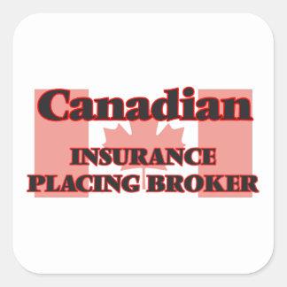 Canadian Insurance Placing Broker Square Sticker