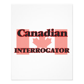 Canadian Interrogator 11.5 Cm X 14 Cm Flyer