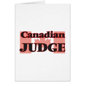 Canadian Judge Greeting Card