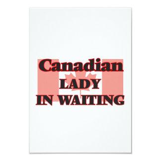 Canadian Lady In Waiting 9 Cm X 13 Cm Invitation Card