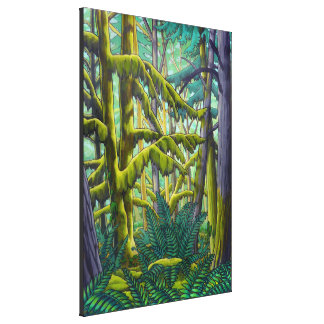 Canadian Landscape Painting Forest Canvas Print