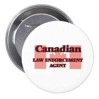 Canadian Law Enforcement Agent 7.5 Cm Round Badge