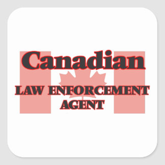 Canadian Law Enforcement Agent Square Sticker