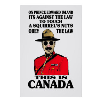 Canadian law poster