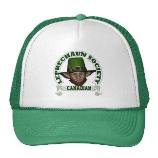Canadian leprechaun society St Patrick s day Mesh Hat