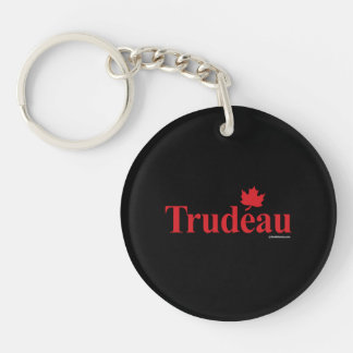 Canadian Liberal Trudeau -.png Single-Sided Round Acrylic Key Ring