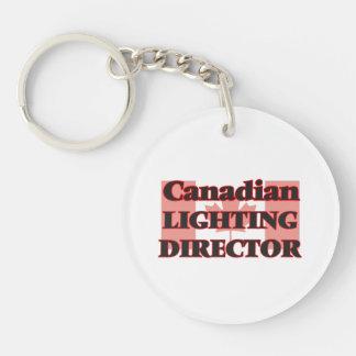 Canadian Lighting Director Single-Sided Round Acrylic Key Ring