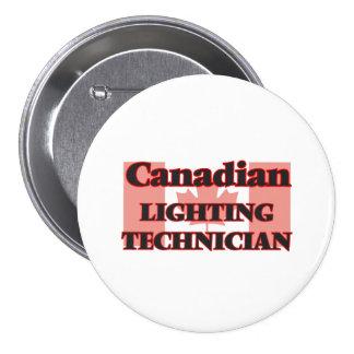 Canadian Lighting Technician 7.5 Cm Round Badge