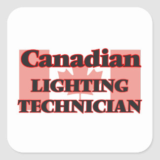 Canadian Lighting Technician Square Sticker