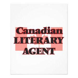 Canadian Literary Agent 11.5 Cm X 14 Cm Flyer