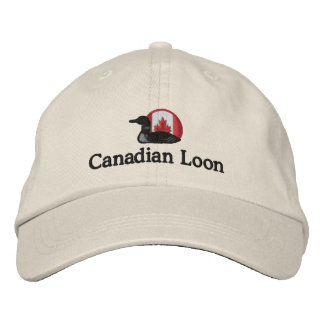 Canadian Loon Funny Custom Personalized Embroidered Baseball Cap