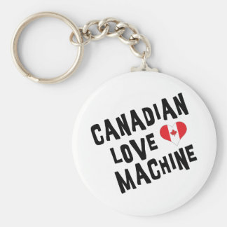 Canadian Love Machine Basic Round Button Key Ring