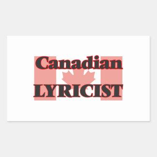 Canadian Lyricist Rectangular Sticker