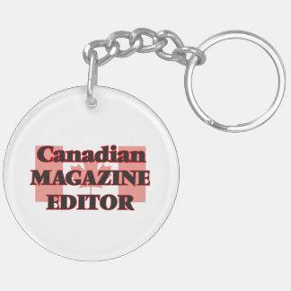 Canadian Magazine Editor Double-Sided Round Acrylic Key Ring