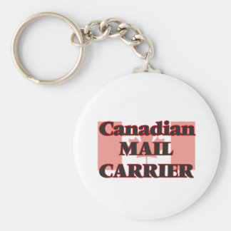 Canadian Mail Carrier Basic Round Button Key Ring