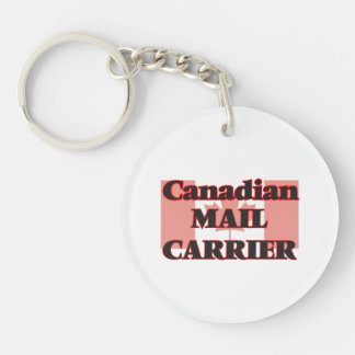 Canadian Mail Carrier Single-Sided Round Acrylic Key Ring