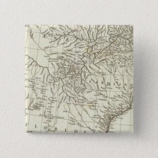 Canadian Map 15 Cm Square Badge