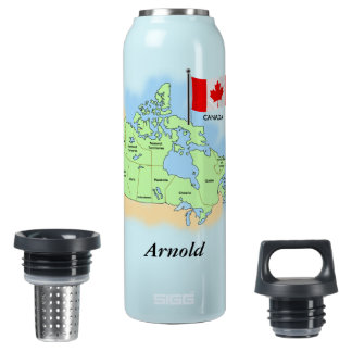 Canadian Map and Flag Liberty Bottle