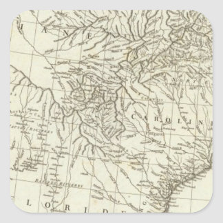 Canadian Map Square Sticker