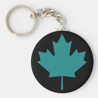 Canadian Maple Leaf Basic Round Button Key Ring