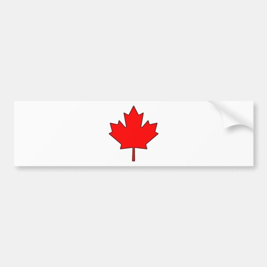 Canadian Maple Leaf Canada National Symbol Bumper Sticker