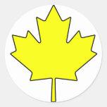 Canadian Maple Leaf Canada National Symbol Round Sticker