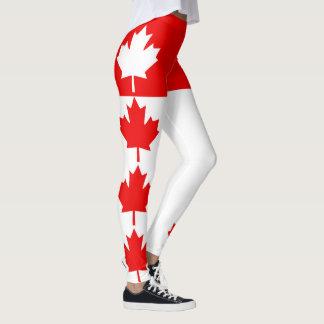 Canadian Maple Leaf Decor on Leggings