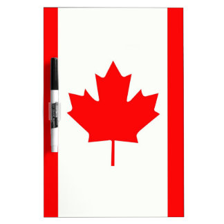Canadian Maple Leaf Dry Erase Board