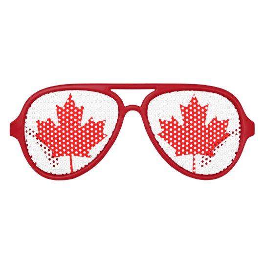 Canadian maple leaf flag party shades | Canada