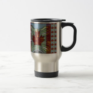 Canadian Maple Leaf Flag Stainless Steel Travel Mug