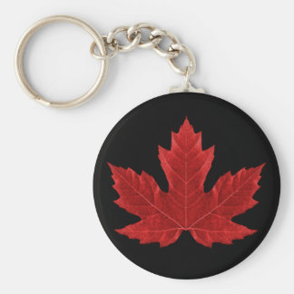 Canadian Maple Leaf Keychain