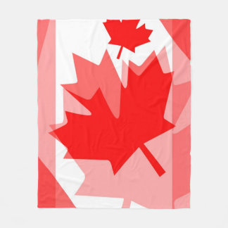 Canadian Maple Leaf Layered Style CANADA Fleece Blanket