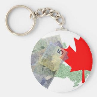 Canadian Maple Leaf & Money Keychain