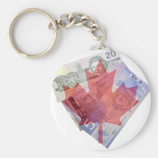 Canadian Maple Leaf & Money Keychain