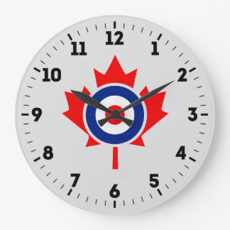 Canadian Maple Leaf Roundel Mod Badge on a Large Clock