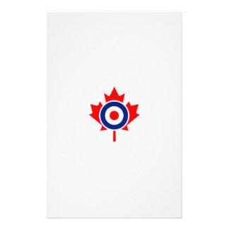 Canadian Maple Leaf Roundel Mod Badge Personalized Stationery