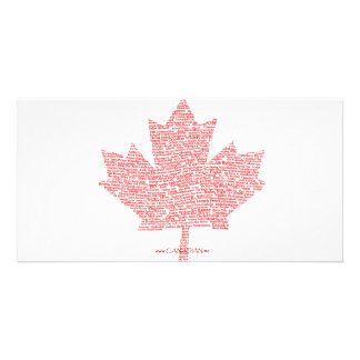 Canadian Maple Leaf Style Photo Greeting Card