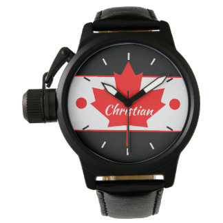 Canadian Maple Leaf (Your Name) Watch