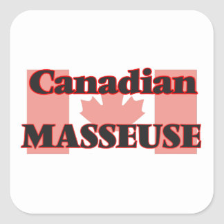 Canadian Masseuse Square Sticker