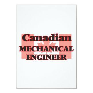 Canadian Mechanical Engineer 13 Cm X 18 Cm Invitation Card