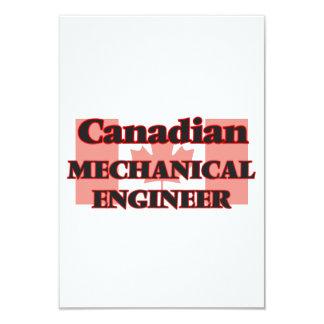 Canadian Mechanical Engineer 9 Cm X 13 Cm Invitation Card