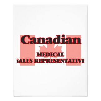 Canadian Medical Sales Representative 11.5 Cm X 14 Cm Flyer