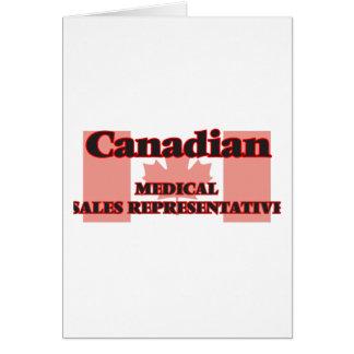 Canadian Medical Sales Representative Greeting Card