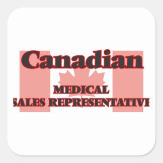 Canadian Medical Sales Representative Square Sticker